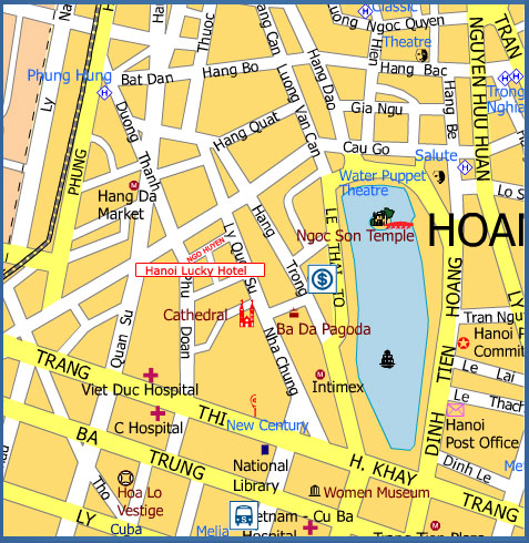 Maps for Hanoi Lucky I Hotel