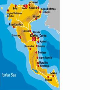 Maps For Coral Hotel Corfu