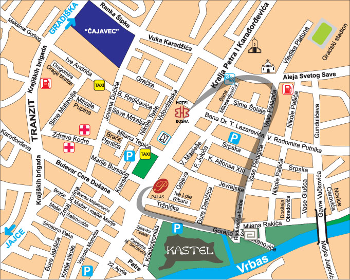 Maps For Atina Hotel