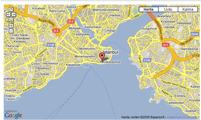 Maps For Golden Palace Istanbul