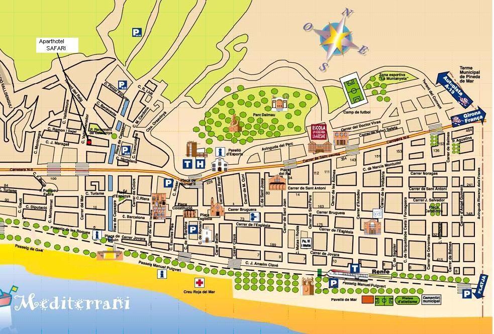 Ville Calella Espagne Gare