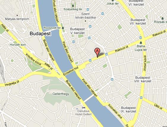 budapest astoria térkép Map of Apartment Astoria   tobook.com budapest astoria térkép