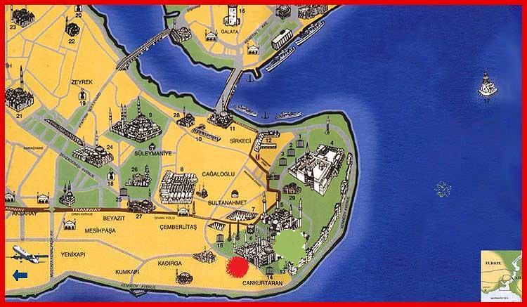 Image result for sultanahmet haritası