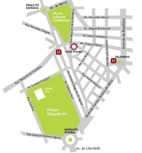 av visconde valmor lisboa mapa Maps for Hotel Principe Lisboa av visconde valmor lisboa mapa