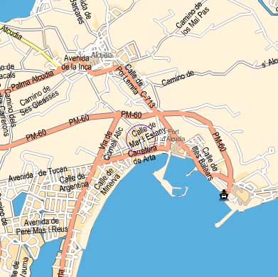 Maps for Hotel Condes de Alcudia