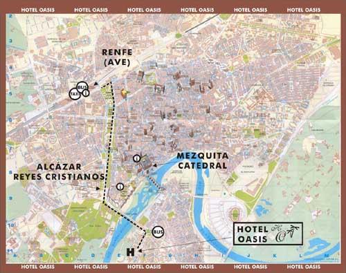 Mapa de Hotel Oasis