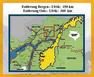 Maps For Ulvik Fjord Hotel - Ulvik norway map