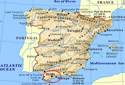 Map of Casa El Escudo de Mijas tobookcom