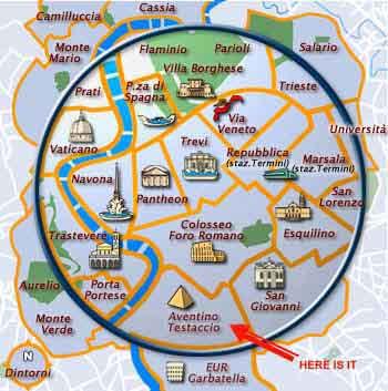 Mapa de Tourist House Ostiense