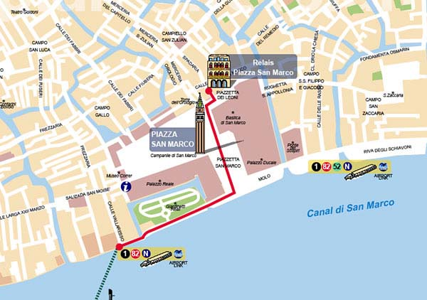 Maps For Hotel Relais Piazza San Marco - Venice san marco map