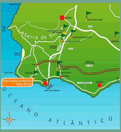 quinta da marinha mapa Mapas de Hotel Quinta da Marinha Resort quinta da marinha mapa