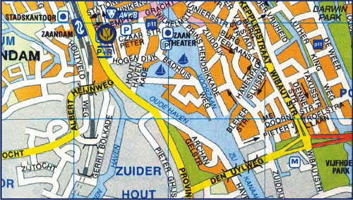 Maps For Inntel Hotels Amsterdamzaandam: Amsterdam Hotels Map At Slyspyder.com