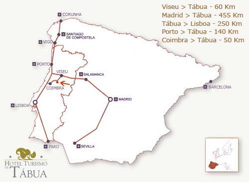mapa de tábua Mapas de Hotel Turismo de Tábua mapa de tábua