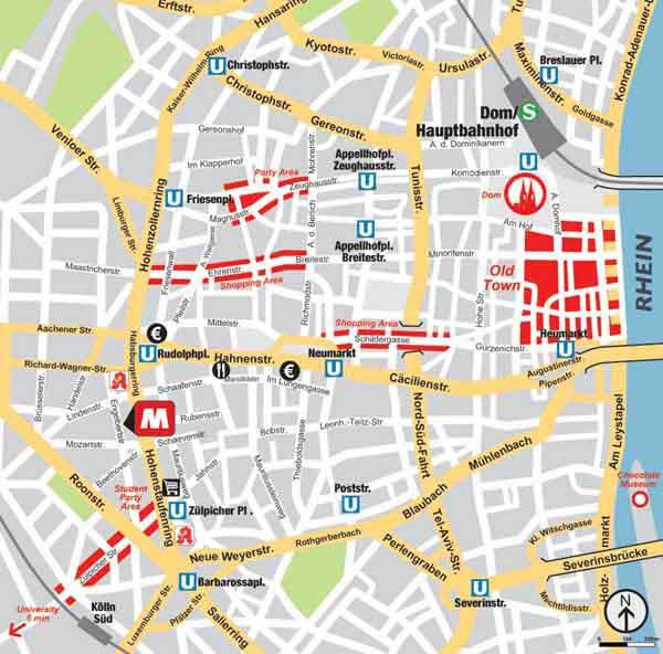 MEININGER City Hostel & Hotel Cologne Haritasi