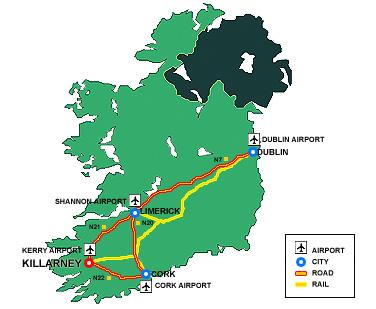 Maps for Killarney Oaks Hotel