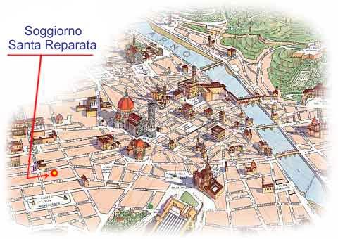 Maps for Hotel Soggiorno Santa Reparata