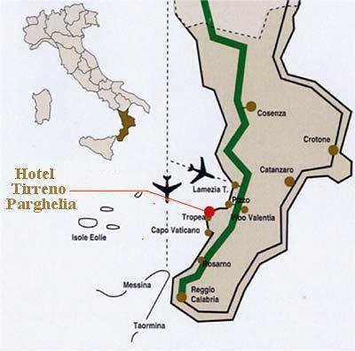 Maps For Hotel Tirreno