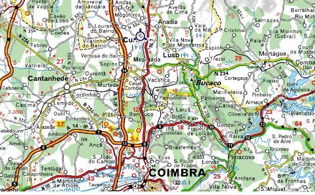 mapa de portugal curia Mapas de Belver Grande Hotel da Curia Golf & Spa mapa de portugal curia