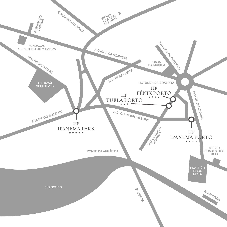 mapa boavista porto Maps for Hotel HF Tuela Porto mapa boavista porto