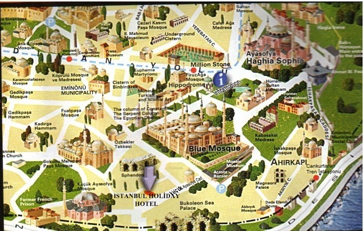 Maps for Istanbul Holiday Hotel – Tourist Map Of Istanbul Attractions