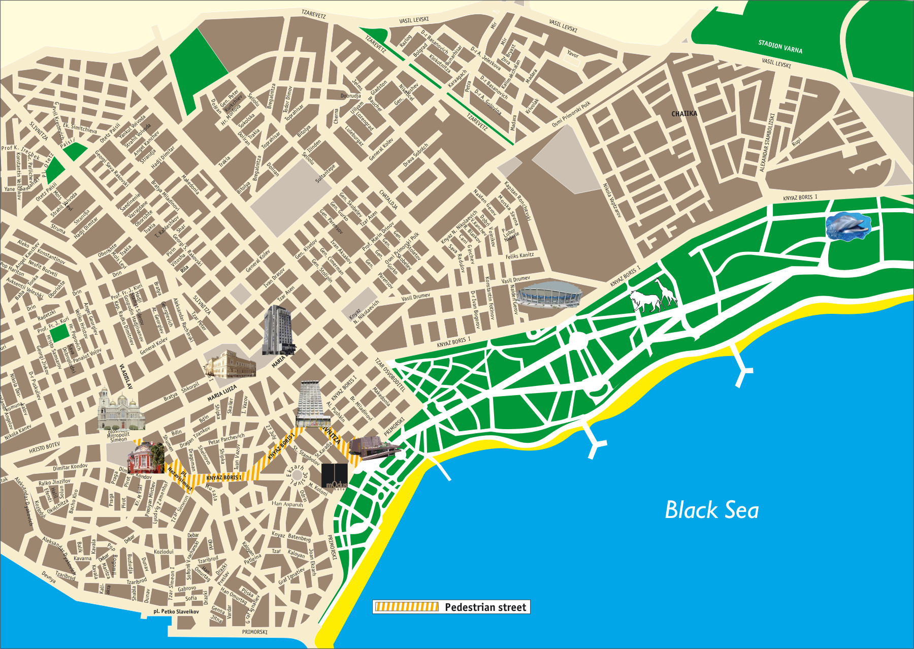 Maps For MOdus Hotel - Varna map