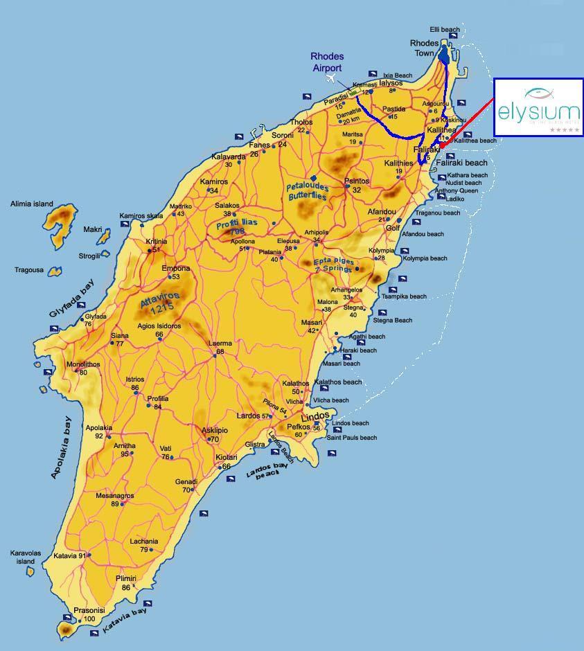 Map Of Elysium Resort