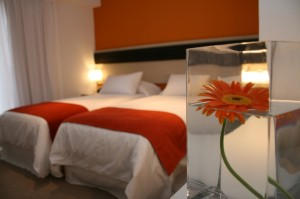 Standard double with city view, king bed, private facilities (bath and shower), and breakfast