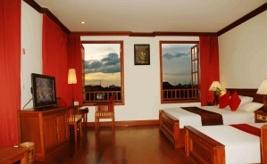 Deluxe double or twin with city view, queen bed, and private facilities (bath and shower)