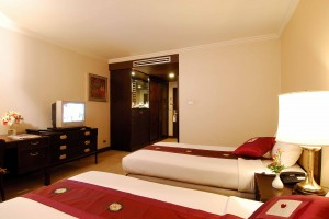 Superior double or twin with city view, balcony, and private facilities (shower)