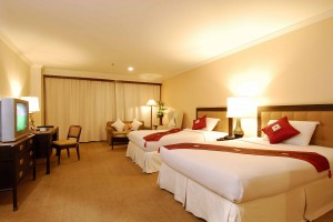 Deluxe double or twin with sea view, balcony, and private facilities (shower)