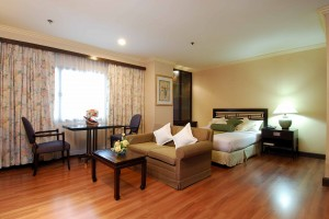 2 person basic studio with city view, balcony, and private facilities (shower)