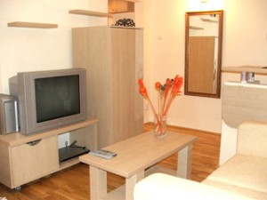1 person comfort studio with city view, queen bed, and private facilities (bath and shower)