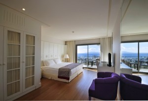 Executive single with sea view, balcony, and private facilities