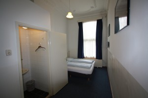 Budget double or twin with private shower shared toilet
