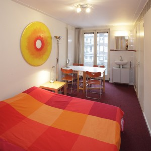 4 person economy 2 room apartment with an extra bed, and private facilities