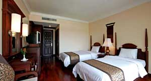 Superior double or twin and 1 child with city view, garden, and private facilities (bath and shower)