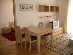 4 person superior 3 room apartment with city view, balcony, an extra bed, and private facilities (bath and shower)